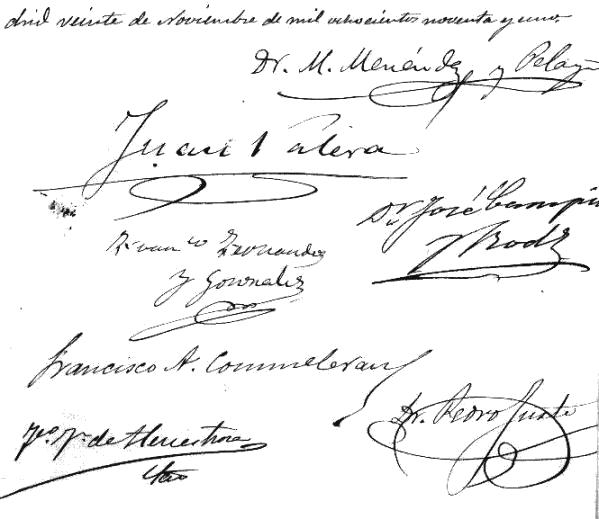 letras de firmas de: