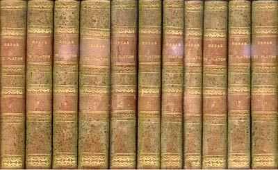 Obras completas de Platón, Patricio de Azcárate, Madrid 1871-1872, 11 volúmenes