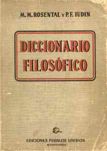 Diccionario Filosofico -  Mark Rosental  y  Iudin Pavel - pdf