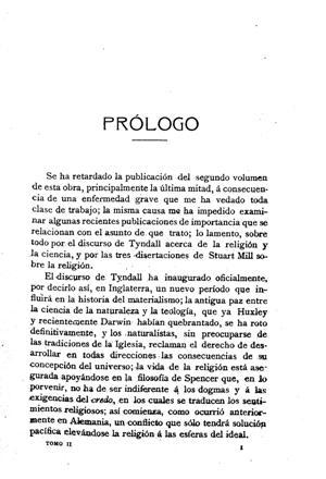 Lange, Historia del materialismo, tomo 2, Prólogo