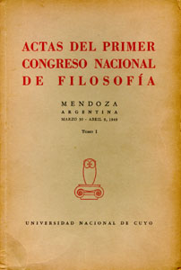 Primer Congreso Nacional de Filosofía, Mendoza 1949