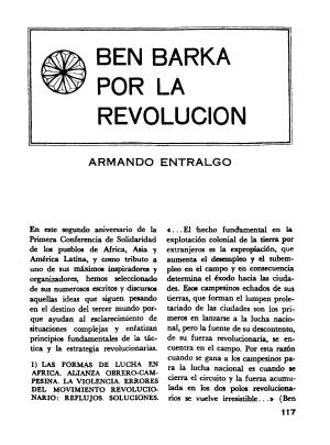 Armando Entralgo, Ben Barka por la revolución, Pensamiento Crítico, número 11, diciembre 1967